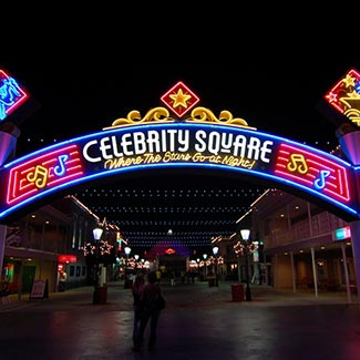 Nightlife at Celebrity Square | Broadway at the Beach