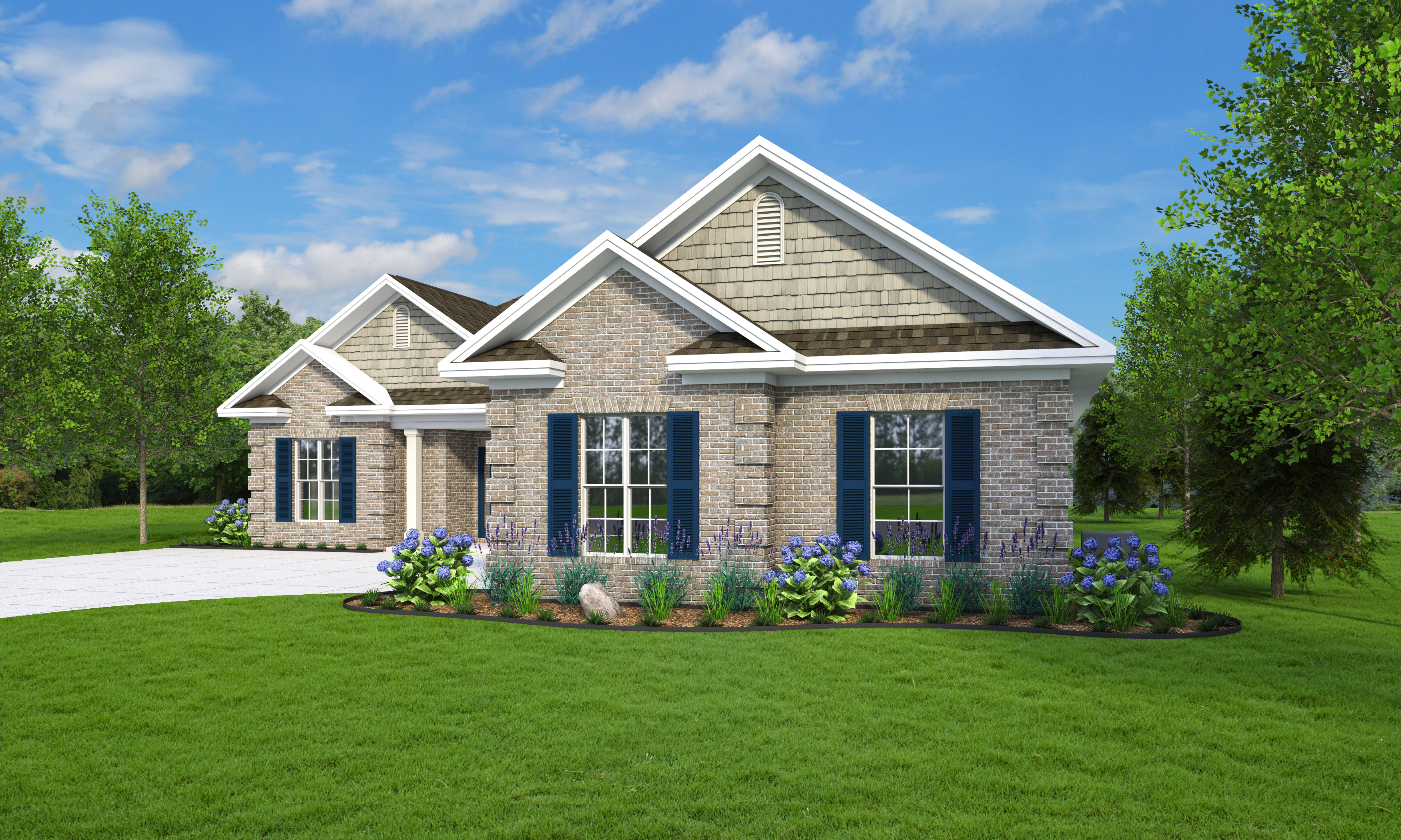 rendering of custom home residence