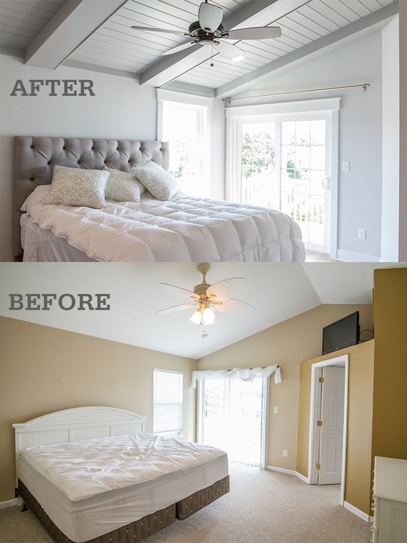 Before after photos of a surfside beach vacation home for Bedroom remodel