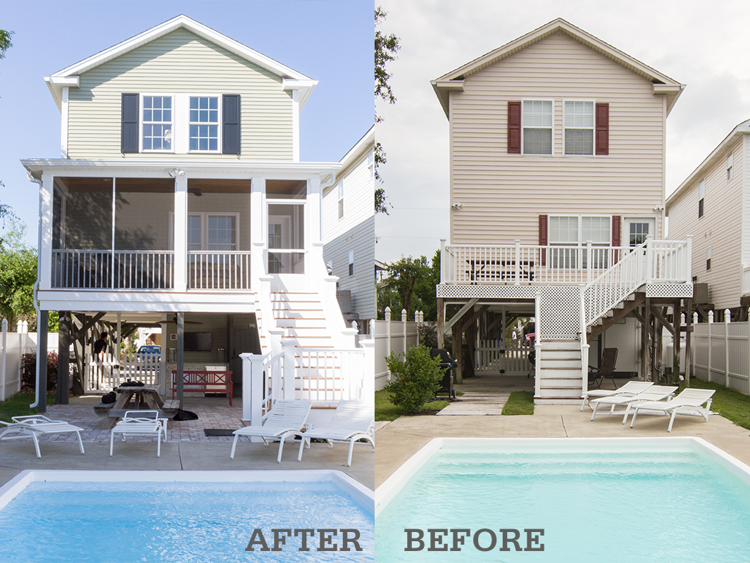exterior home remodel before and after the