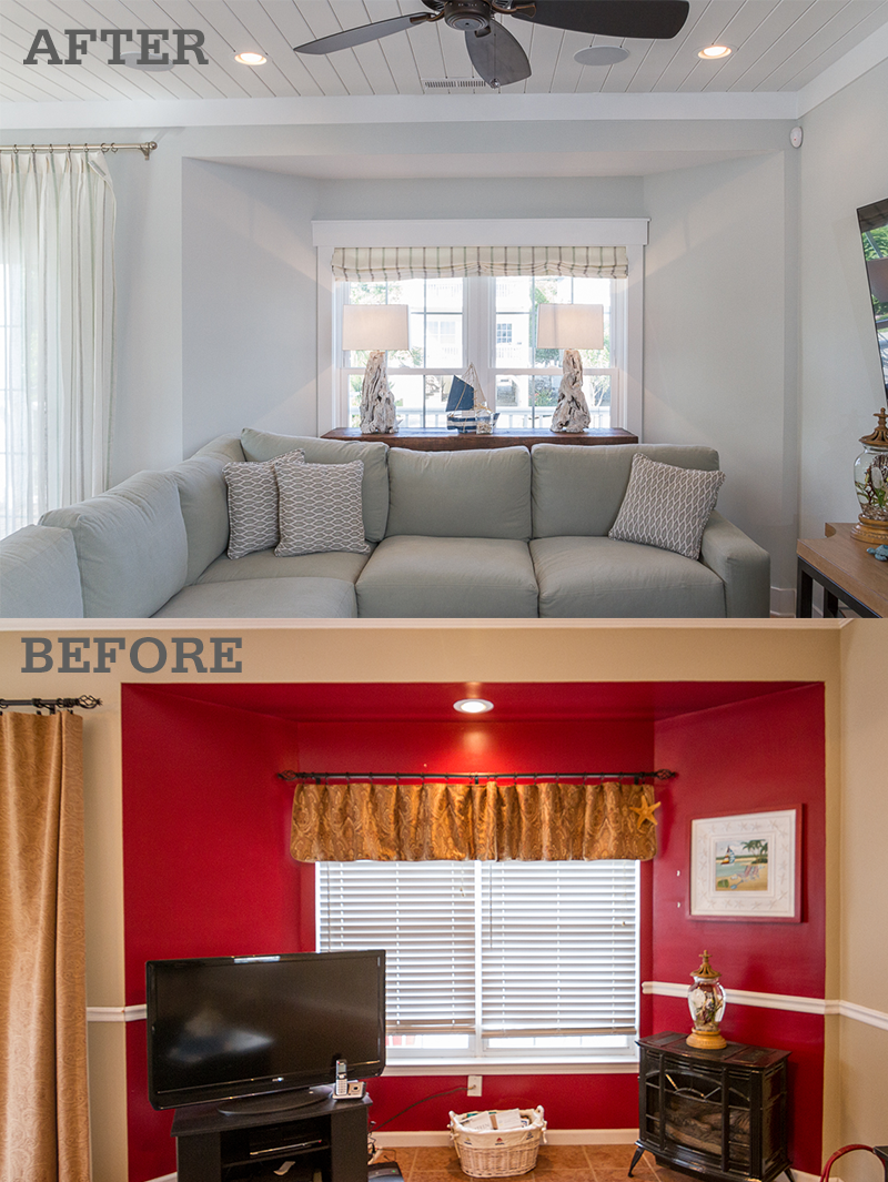 surfside beach living room remodel before after